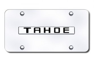 Autogold® - Tahoe Name Logo on Chrome License Plate