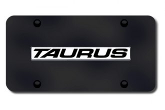 Autogold® - Taurus Logo on Black License Plate