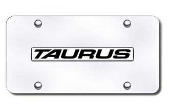 Autogold® - Taurus Logo on Chrome License Plate
