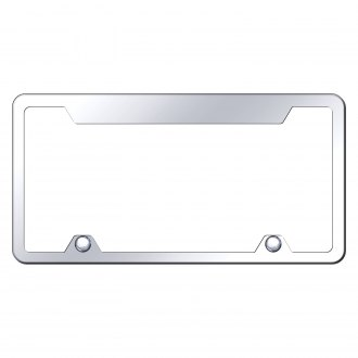 Autogold® - Wide-Top Chrome License Plate Frame
