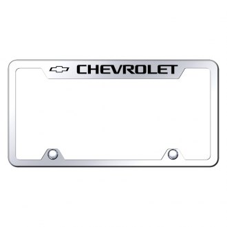 Autogold® - Chevy Logo on Chrome License Frame