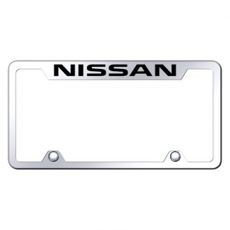 Autogold® - Truck Chrome License Plate Frame with Laser Etched Nissan Logo
