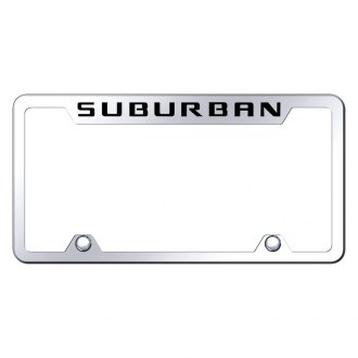 Autogold® - Truck License Plate Frame with Laser Etched Suburban Logo