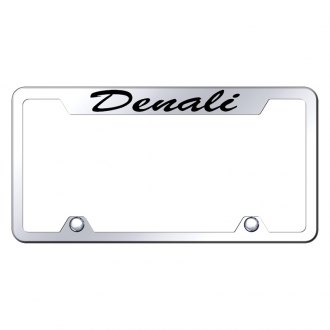 Autogold® - Truck License Plate Frame with Script Laser Etched Denali Logo