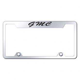 Autogold® - Truck Chrome License Plate Frame with Script Laser Etched GMC Logo