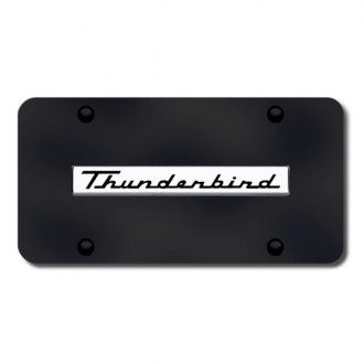 Autogold® - Thunderbird Logo on Black License Plate