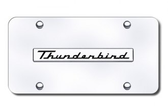 Autogold® - Thunderbird Logo on Chrome License Plate