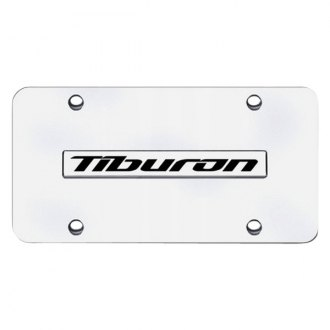 Autogold® - Chrome License Plate with Tiburon Logo