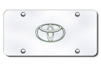 Autogold® - Toyota Chrome Logo on Chrome License Plate