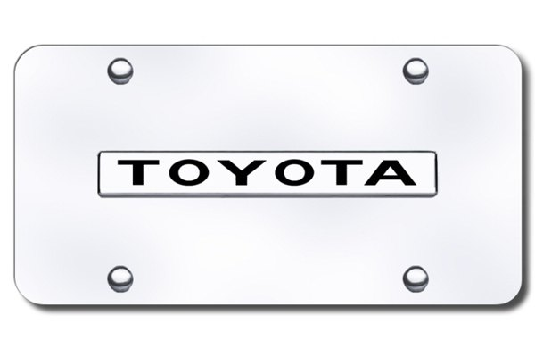 AutoGold� - 3D Chrome Toyota Logo on Chrome License Plate