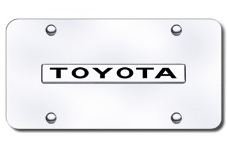 Autogold® - Toyota Name Logo on Chrome License Plate