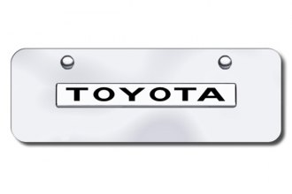 AutoGold� - 3D Chrome Toyota Logo on Chrome Mini Size License Plate