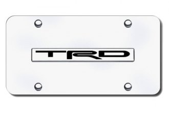 Autogold® - TRD Logo on Chrome License Plate