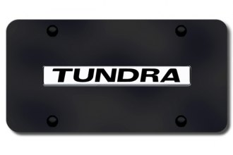Autogold® - Tundra Name Logo on Black License Plate