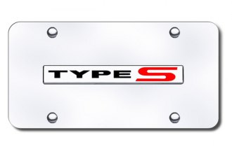 Autogold® - Type S Logo on Chrome License Plate