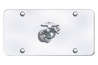 Autogold® - U.S. Marine Corps Anchor Logo on Chrome License Plate