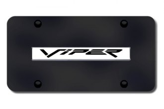 Autogold® - Viper Logo on Black License Plate