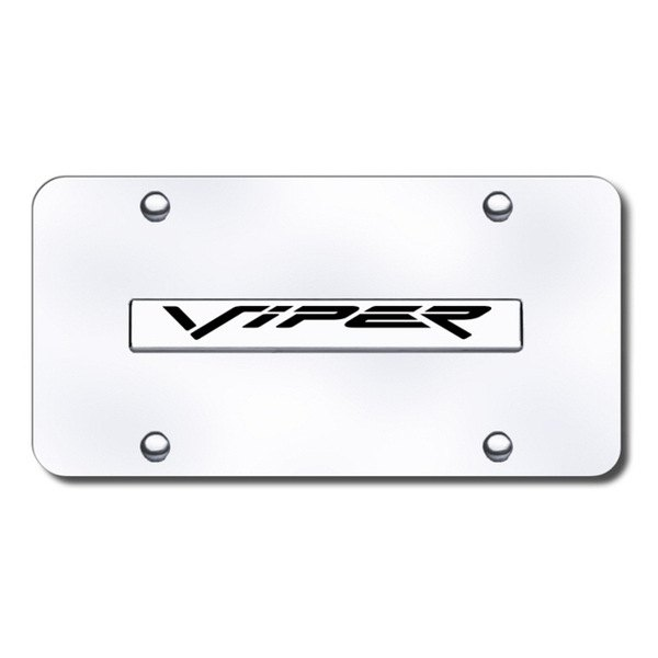 Autogold® - Viper Logo on Chrome License Plate