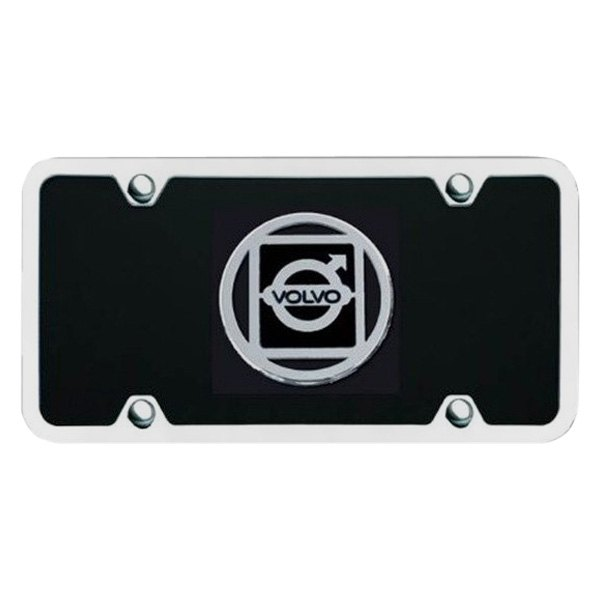 Autogold® - License Plate with 3D Volvo Emblem
