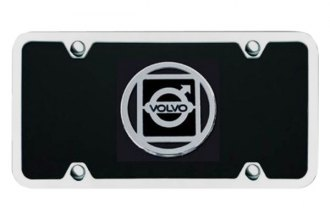 Autogold® - Volvo Logo on Black License Plate