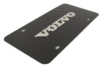 Autogold® - Volvo Name Logo on Black License Plate