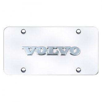 Autogold® - Volvo Name Logo on Chrome License Plate
