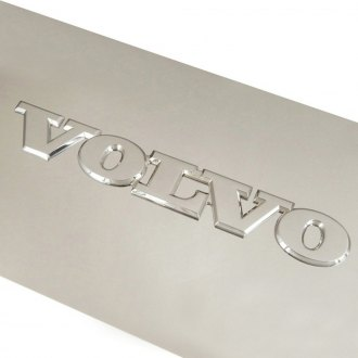 Autogold® - Volvo Name Logo on Brushed License Plate