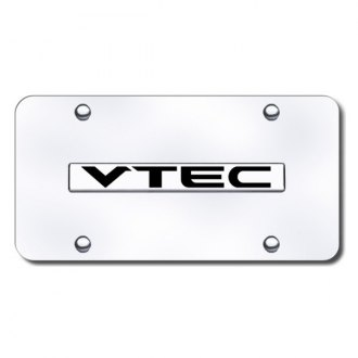 Autogold® - V-TEC Logo on Chrome License Plate