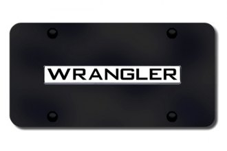 Autogold® - Wrangler Logo on Black License Plate