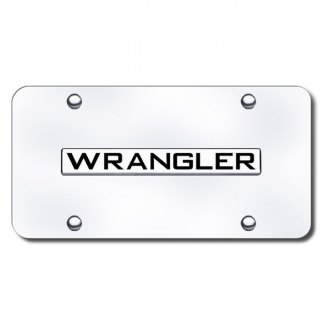 Autogold® - Wrangler Logo on Chrome License Plate