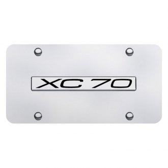 Autogold® - Chrome License Plate with Chrome XC70 Logo