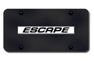 Autogold® - Escape Logo on Black License Plate
