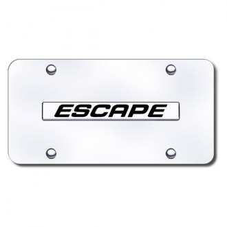 Autogold® - Escape Name Name on Chrome License Plate