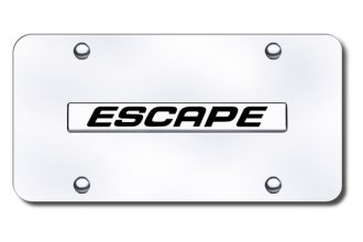 Autogold® - Escape Name Logo on Chrome License Plate