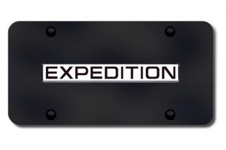 Autogold® - Expedition Name Logo on Black License Plate