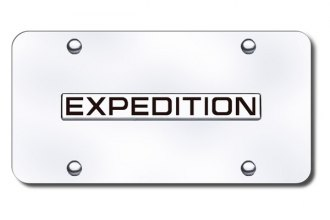 Autogold® - Expedition Name Logo on Chrome License Plate