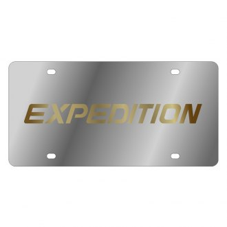Autogold® - 3D Gold Expedition Logo on Chrome License Plate