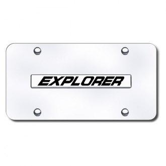 Autogold® - Explorer Name Logo on Chrome License Plate