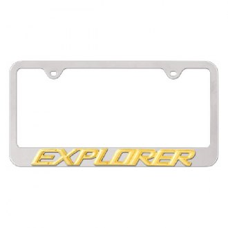 Autogold® - 3D Gold Explorer Logo on Chrome License Plate