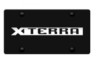 Autogold® - Xterra Name Logo on Black License Plate