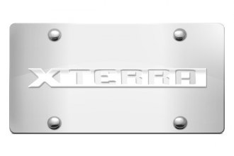 Autogold® - Xterra Name Logo on Chrome License Plate