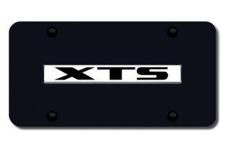 Autogold® - XTS Logo on Black License Plate