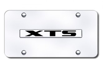 Autogold® - XTS Logo on Chrome License Plate