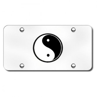 Autogold® - Yin-Yang Logo on Chrome License Plate