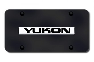 Autogold® - Yukon Logo on Black License Plate