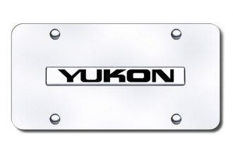 Autogold® - Yukon Logo on Chrome License Plate