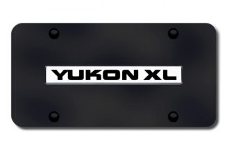 Autogold® - Yukon XL Logo on Black License Plate