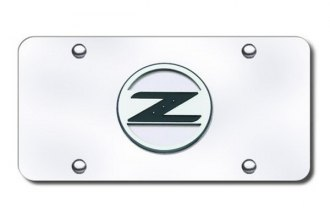 Autogold® - Z Logo on Chrome License Plate