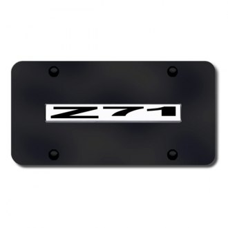 Autogold® - Z71 Name on Black License Plate