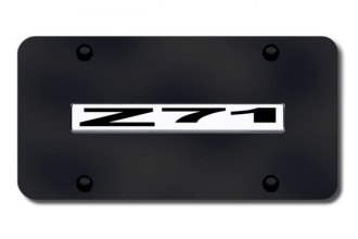 Autogold® - Z71 Logo on Black License Plate